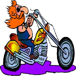Cartoon Motorcycle Road Driving